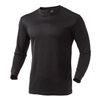 なめらか保温Tシャツ 中厚手 長袖 BK 3L