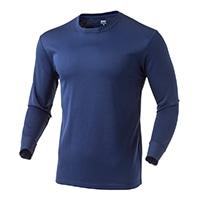 なめらか保温Tシャツ 中厚手 長袖 NV 3L