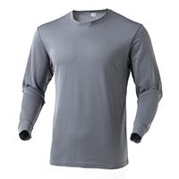 なめらか保温Tシャツ  中厚手 長袖 GY 3L