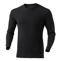 蒸れにくい 保温Tシャツ BK M