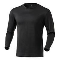蒸れにくい保温Tシャツ 厚手 長袖 BK M