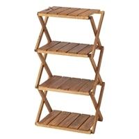 リフティー 木製折りたたみラック 4段 20
