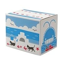 【数量限定・ケース販売】Pet'sOne もっと濃いブルーに変わる紙製のネコ砂 13.5L×4個 限定デザイン