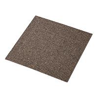 【店舗取り置き限定】タイルカーペット 40×40 ストライプ/ブラウン