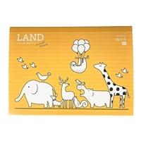 飾れる塗り絵 LANDなかよし陸の動物たA4