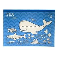 飾れる塗り絵 SEAなかよし海の動物たちA4