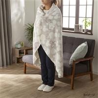 【2020秋冬】羽織れるラウンドケット ミッキーマウス/アイボリー