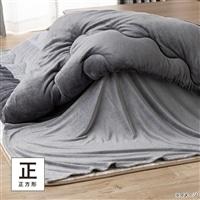 【2020秋冬】もちもち中掛け毛布 正方形 グレー 180×180