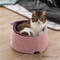 【2020秋冬】猫まんまるベッド ニットピンク