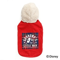 【2020秋冬】ボアパーカー ミッキーマウス レッド Sサイズ