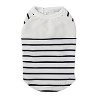 【2021春夏・数量限定】ボーダーカットソー ホワイトネイビー 3Lサイズ ペット服(犬の服)