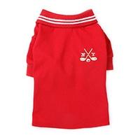 【2021春夏・数量限定】ポロシャツ レッド Mサイズ ペット服(犬の服)