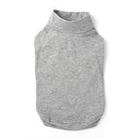 【2021春夏】ハイネックインナーウェア グレー Mサイズ ペット服(犬の服)