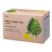 カインズ 炭酸ガスの薬用入浴剤 40g×20錠 2つの香り(完熟ゆず・清々しい森林)
