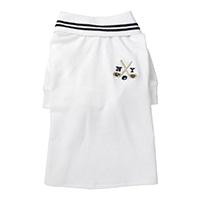 【2021春夏・数量限定】ポロシャツ ホワイト MDサイズ ペット服(犬の服)