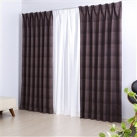 遮光遮熱4枚組カーテン なごみ 100×178 ブラウン