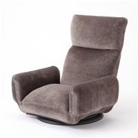 【店舗取り置き限定】andcute 低反発肘付き回転座椅子 グレー
