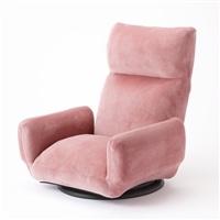 【店舗取り置き限定】andcute 低反発肘付き回転座椅子 ピンク