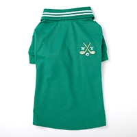 【2021春夏・数量限定】ポロシャツ グリーン MDサイズ ペット服(犬の服)