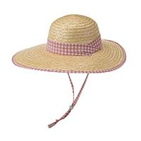 婦人麦わら帽子(消臭糸使用) ピンクチェック