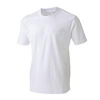 スピードドライ ポケット付メッシュワークTシャツ半袖 ホワイト M