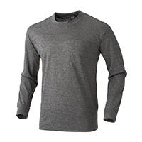 スピードドライ ポケット付メッシュワークTシャツ長袖 杢ライトグレー M