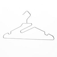 首もとが伸びにくいステンレスハンガー 3本組