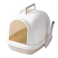 Pet'sOne キャットトイレ フード付き ホワイト