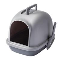 Pet'sOne キャットトイレ フード付き グレー