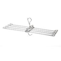乾きやすく竿に掛けやすいステンレスタオルハンガー