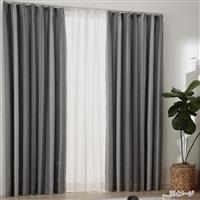 遮光・遮熱 リーガ グレー 100×135cm 4枚組セットカーテン