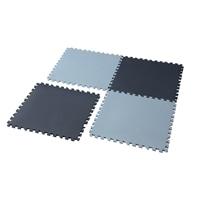 【数量限定・2021春夏】縁付パズルマット4枚組 ブルー/ライトブルー 58×58cm