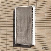 【2021春夏】日よけ 格子窓用サンセイルシェード ブラウン 60×135cm
