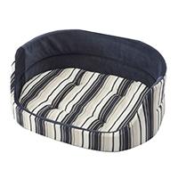 【数量限定】丸型ベッド ストライプネイビー 3Lサイズ
