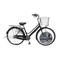【店舗限定】【自転車】キラリ KiLaLi パンクしにくい軽快車 26インチ 内装3段 オートライト ブラック