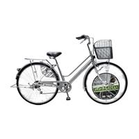 【店舗限定】【自転車】キラクル KiLaCle パンクしにくい軽快車 27インチ 外装6段 オートライト シルバー