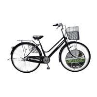 【店舗限定】【自転車】キラクル KiLaCle パンクしにくい軽快車 27インチ 内装3段 オートライト ブラック