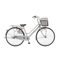 【店舗限定】【自転車】キラクル KiLaCle パンクしにくい軽快車 27インチ 内装3段 オートライト シルバー