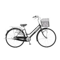 【店舗限定】【自転車】キラクル KiLaCle パンクしにくい軽快車 26インチ 内装3段 オートライト ブラック