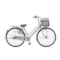 【店舗限定】【自転車】キラクル KiLaCle パンクしにくい軽快車 26インチ 内装3段 オートライト シルバー