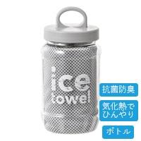 【2021春夏】抗菌防臭アイスタオル ボトル グレー
