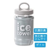 【2021春夏】抗菌防臭アイスタオル ボトル ターコイズブルー