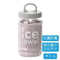 【2021春夏】抗菌防臭アイスタオル ボトル ピンク