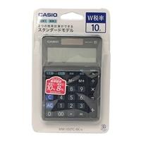 カシオ W税率電卓 MW-100TC-BK-N