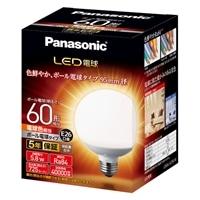 パナソニック LED電球 一般電球タイプ ボール電球タイプ 5.8W(電球色相当) LDG6LG95W