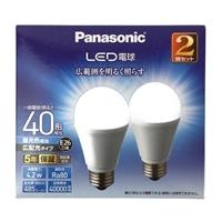 パナソニック LED電球 40形 昼光色相当 2個セット LDA4DGEW2T