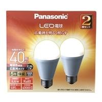 パナソニック LED電球 40形 電球色相当 2個セット LDA4LGEW2T