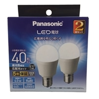 パナソニック LED電球 4.0W 2個セット 昼光色相当  LDA4DGE17ESW2T