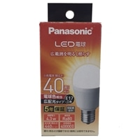 パナソニック LED電球 4.3W 電球色相当 LDA4LGE17ESW