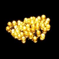 【数量限定】LEDストレートライト 100球ゴールド球 グリーンコード